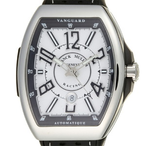 Franck Muller Vanguard Racing Men's Watch V45SCDT RCG Stainless Steel White Arabian Dial