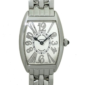 Franck Muller Tono Carbex Relief Ensemble Ladies Watch 1752QZ REL V-R OAC Stainless Steel Silver Arabian Dial