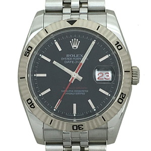 Rolex Datejust Turnograph F Men's Watch 116264 Stainless Steel Black Dial