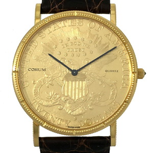 Corum $ 20 Coin Watch Men's K18 Yellow Gold Dial
