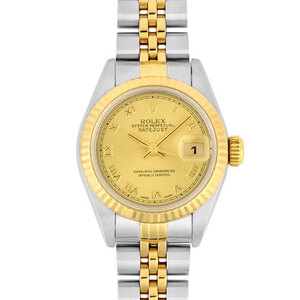 Rolex ROLEX Datejust 69173 K18 yellow gold stainless steel T number ladies self-winding watch champagne dial