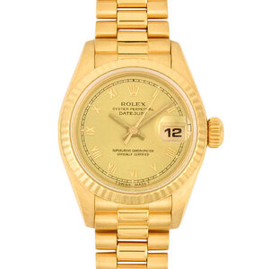 Rolex ROLEX Datejust 69178 K18 yellow gold R number ladies self-winding watch champagne dial