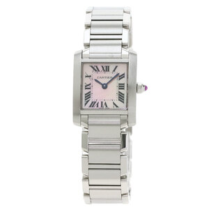 Cartier WG51208Q3 Tank Francaise SM Watch Stainless Steel Ladies
