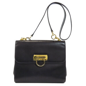 Salvatore Ferragamo Gancini Shoulder Bag Calf Ladies