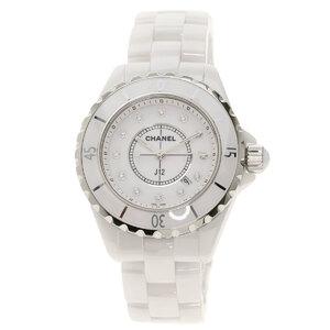 Chanel H1628 J12 33mm 12P Diamond Watch Ceramic Ladies