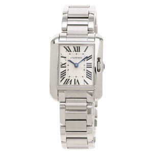 Cartier W5310022 Tank Anglaise SM Watch Stainless Steel Ladies