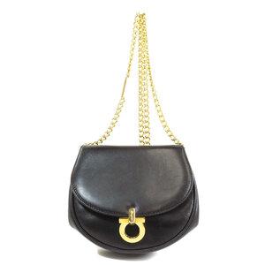 Salvatore Ferragamo Logo Mark Shoulder Bag Leather Ladies