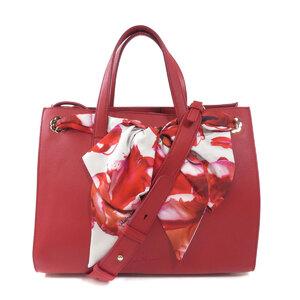 Salvatore Ferragamo 2WAY Ribbon Handbag Calf Ladies