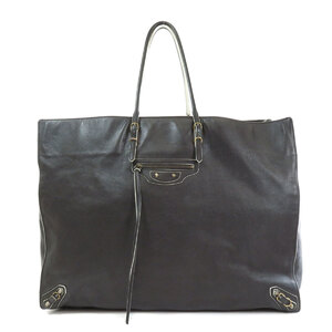 Balenciaga 286337 Paper Large Tote Bag Leather Ladies