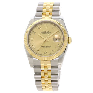 Rolex 116233 Datejust Watch Stainless Steel K18 Yellow Gold Mens