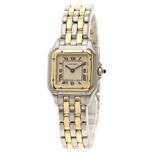 Cartier W25029B6 Panther SM 2ROW Watch Stainless Steel Combination Ladies
