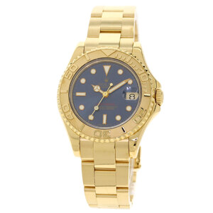 Rolex 68628 Yacht Master Watch K18 Yellow Gold Boys