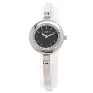 Gucci YA105 Round Face Watch Stainless Steel Ladies
