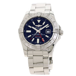 Breitling A32390 Avenger 2 GMT Watch Stainless Steel Mens