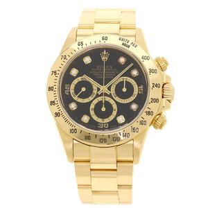 Rolex 16528G Cosmograph Daytona 8P Diamond Watch K18 Yellow Gold Mens