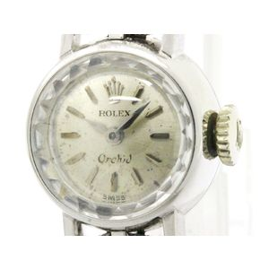 Vintage ROLEX Orchid Stainless Steel Hand Winding Ladies Watch
