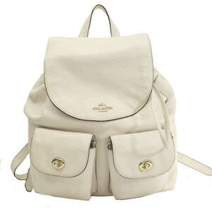Coach rucksack ivory gold leather backpack ladies