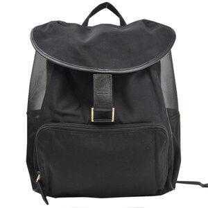 Gucci rucksack black nylon leather backpack ladies