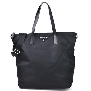 Prada Handbag Shoulder Bag 2Way VELA NERO Nylon Silver Hardware Ladies 1BG696