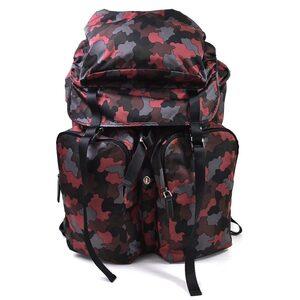 Prada rucksack backpack TESSUTO STAMPAT BORDEAU DIS nylon men's V136