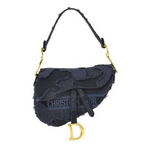 Christian Dior Shoulder Bag SADDLE Camouflage Canvas Navy Ladies M0446CWAH_M928