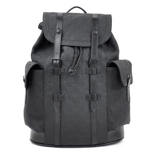 Louis Vuitton Backpack Monogram Amplant Christopher PM Virgil Abloh Black Taurillon Leather Men's M55699