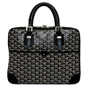 Goyard Ambassador PM Black Yellow Toile Leather PVC