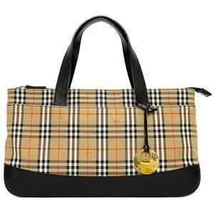 Burberry Handbag Beige Black Nova Check Mini Bag Canvas Leather