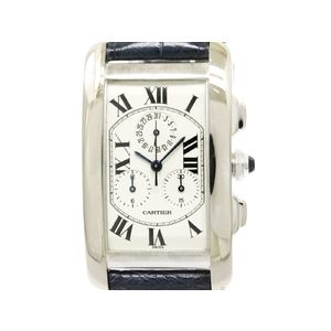 Cartier Tank American Lm Chrono Reflex Quartz Men's Watch W2603356