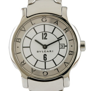 BVLGARI Bvlgari Watch Solo Tempo ST29S Silver White Ladies Stainless Steel