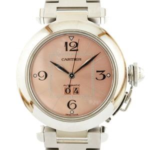 CARTIER Cartier Watch Pasha C Big Date Silver Pink Men's Stainless Steel