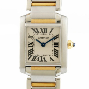 CARTIER Cartier Watch Tank Francaise Ladies Stainless Steel K18 Gold