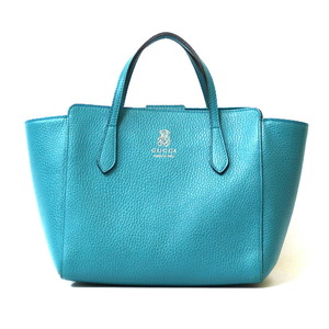 GUCCI Gucci Handbag Tote Bag Children's Swing Blue Ladies