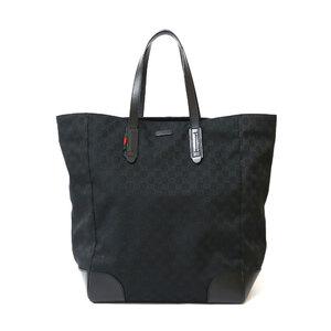 GUCCI Gucci Shoulder Bag GG Tote Black Ladies