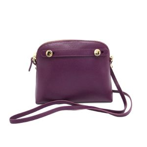 FURLA Piper Mini Crossbody Shoulder Bag Leather Aubergine 776635