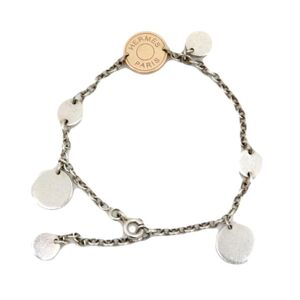 Hermes Confetti Bracelet Women's Silver 925 Au750 Pink Gold Serie Coin