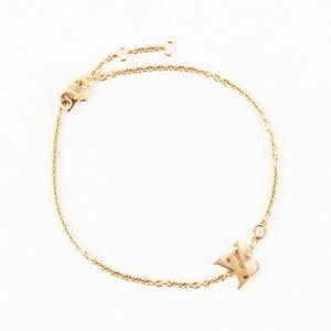 Louis Vuitton Brass Lady Blossom LV Diamond Bracelet Q95561 K18 Gold