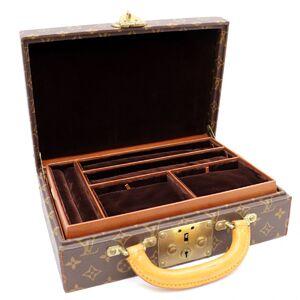 Louis Vuitton Monogram Bowat Bijoux Trunk Jewelry Box Ladies M47120