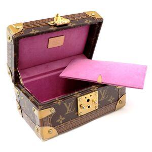 Louis Vuitton Coffret Tresor 20 Monogram Jewelry Box Ladies Gold Fuchsia Hard Luggage M20038