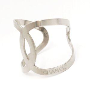 Chanel B17V Coco Mark Bangle Ladies Silver