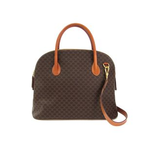 CELINE Hand bag Macadam PVC/Leather Brown