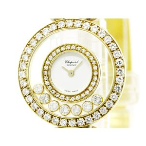 CHOPARD ショパール ハッピーダイヤモンド K18 ゴールド クォーツ レディース 時計