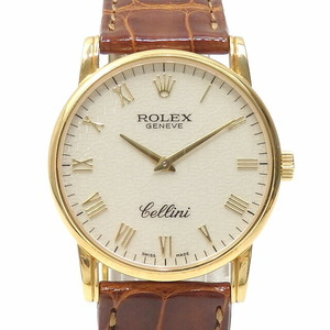 Rolex ROLEX Cellini Classic Men's 5116 8 Manual winding K number KK18 Yellow gold watch White dial