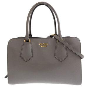 PRADA Prada leather 2WAY handbag gray bag