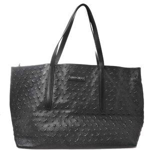 Jimmy Choo JIMMY CHOO Leather Embossed Star Tote Bag Black