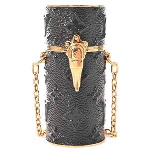 Louis Vuitton LOUIS VUITTON Monogram Midnight Lipstick Case Necklace Black Canvas