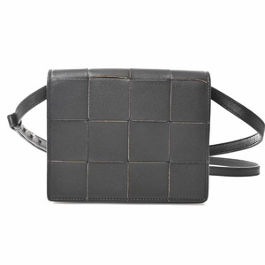 Bottega Veneta Cassette Leather Maxi Intrecciato Shoulder Bag Black