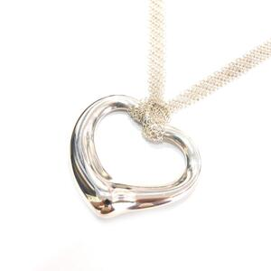 TIFFANY & CO Tiffany Open Heart Necklace Large Ladies Silver SV925