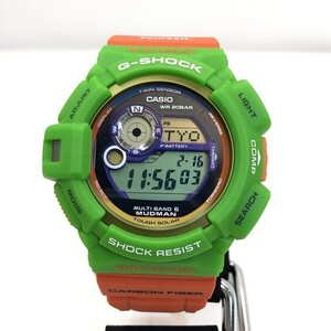 G-SHOCK CASIO Casio watch GW-9300K-3JR MUDMAN Madman Green Orange Solar Men's