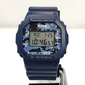 G-SHOCK CASIO Casio watch DW-5600VT A BATHING PE double name quartz navy camouflage men's